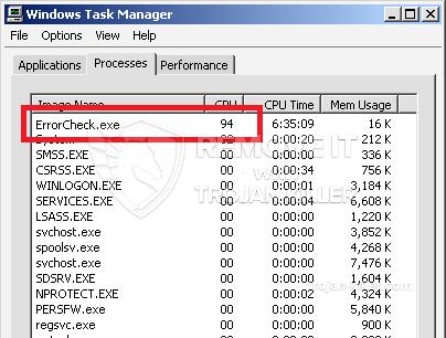 remove ErrorCheck.exe virus