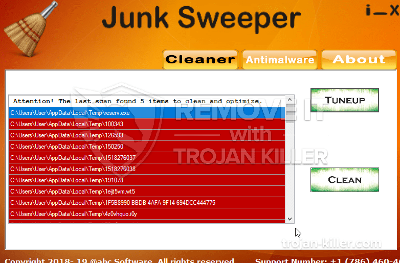 remove Junk Sweeper virus