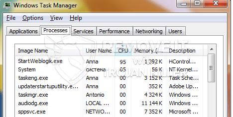 remove startWebLogic.exe virus