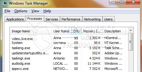 remove video_live.exe virus