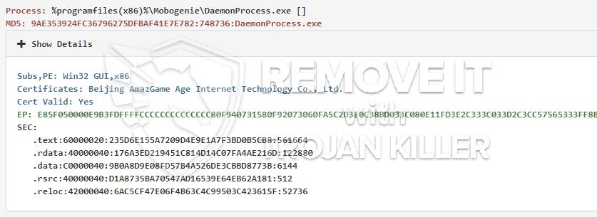 remove DaemonProcess.exe virus