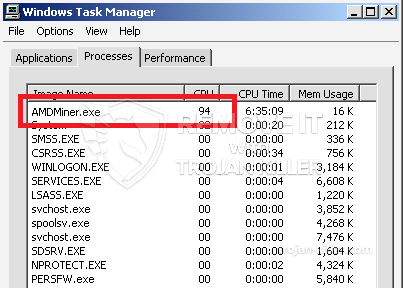 remove AMDMiner.exe virus