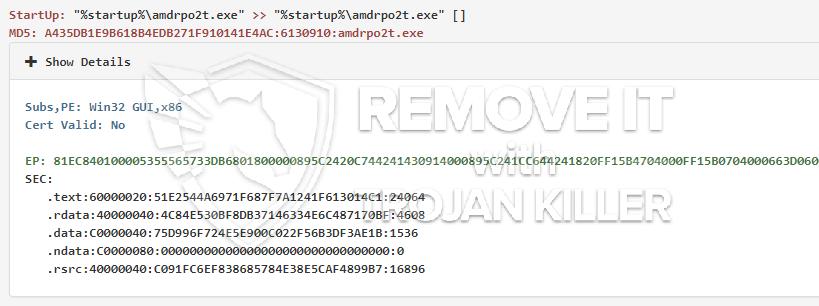 remove amdrpo2t.exe virus