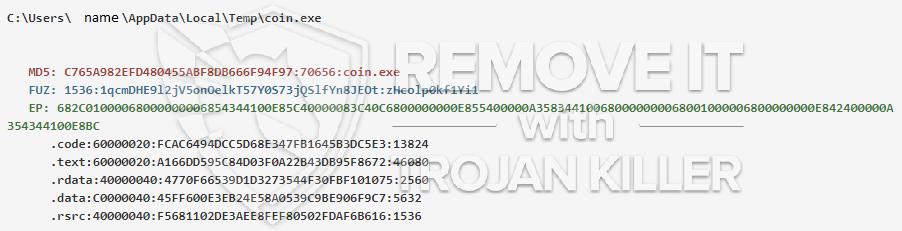 remove coin.exe virus