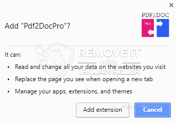 remove Pdf2DocPro virus