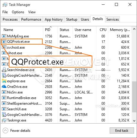 remove QQProtcet.exe virus