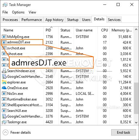 remove admresDJT.exe virus