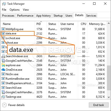 remove data.exe virus