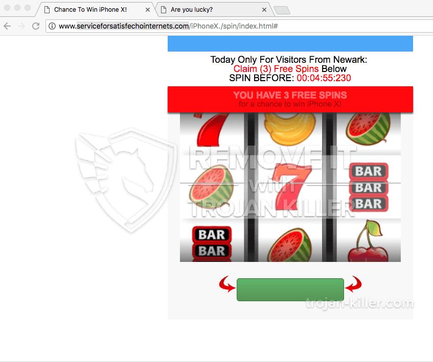 remove Serviceforsatisfechointernets.com virus