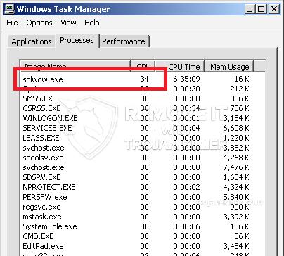 remove splwow.exe virus