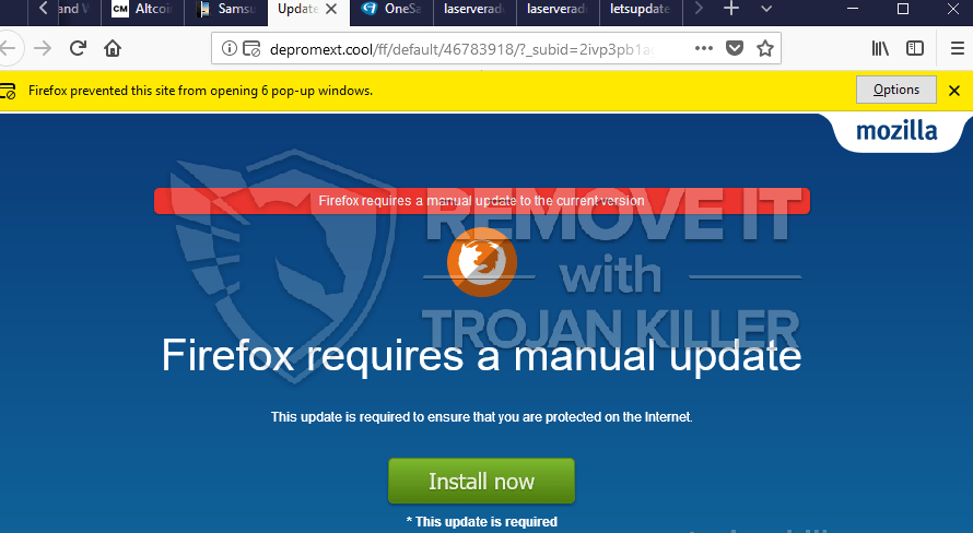 remove Depromext.cool virus