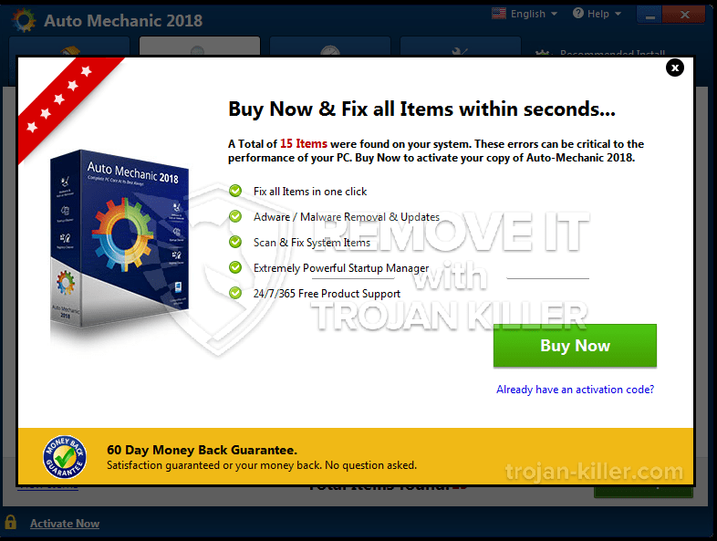 remove Auto Mechanic 2018 virus