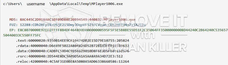 remove MPlayer1006.exe virus