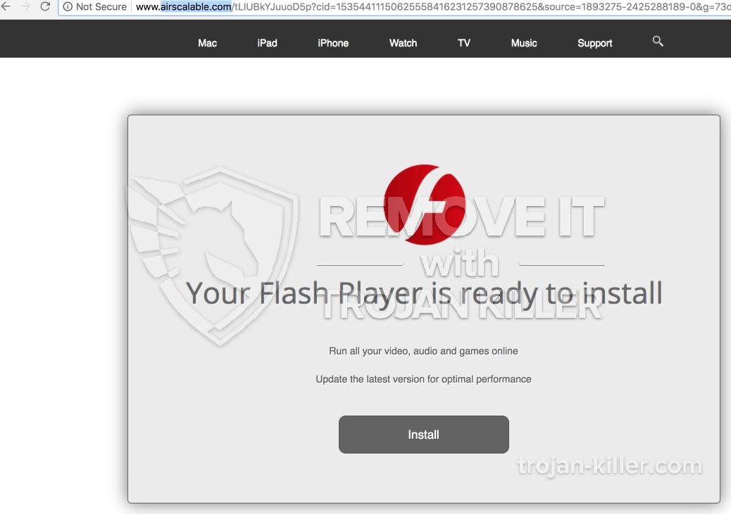 remove Airscalable.com virus
