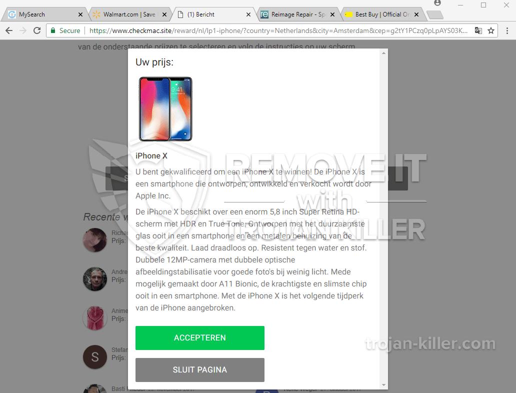remove Checkmac.site virus
