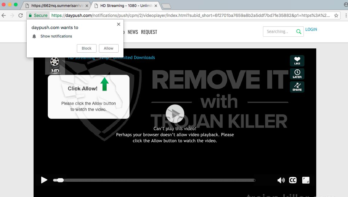 remove Daypush.com virus