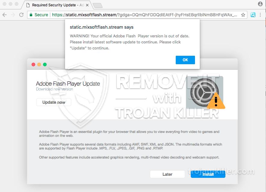 remove Static.mixsoftflash.stream virus