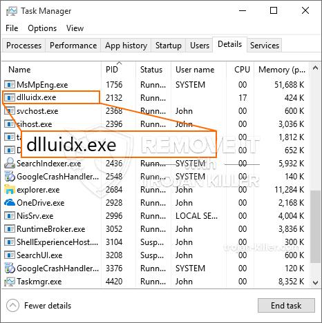 remove Dlluidx.exe virus