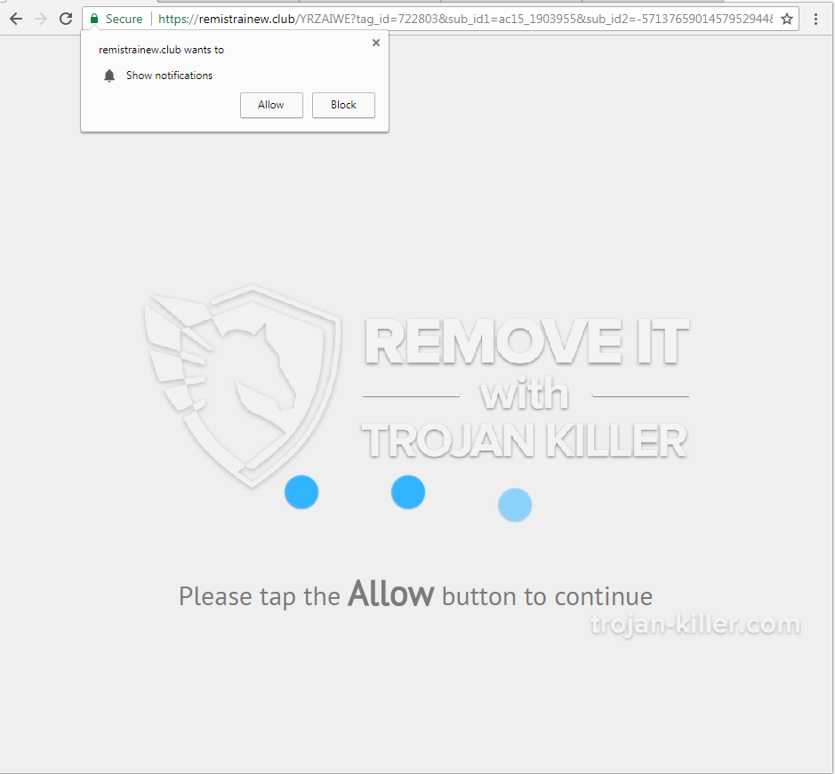 remove Remistrainew.club virus