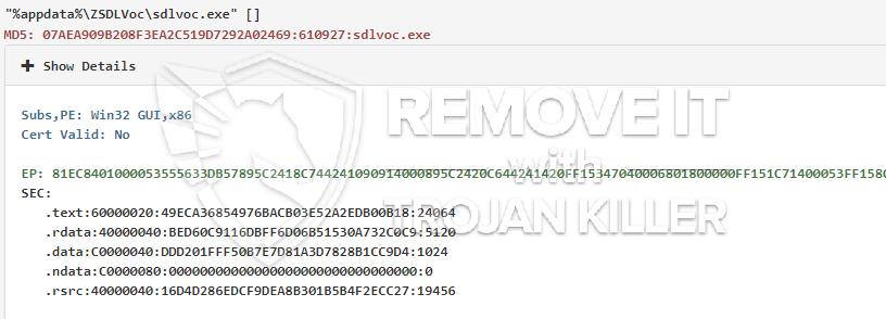 remove Sdlvoc.exe virus