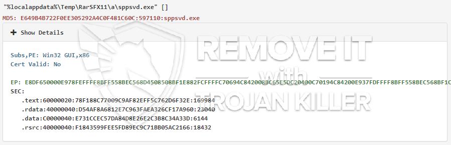 remove Sppsvd.exe virus