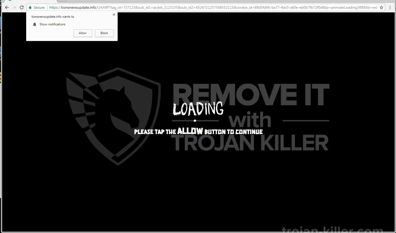 remove Tionsnewsupdate.info virus