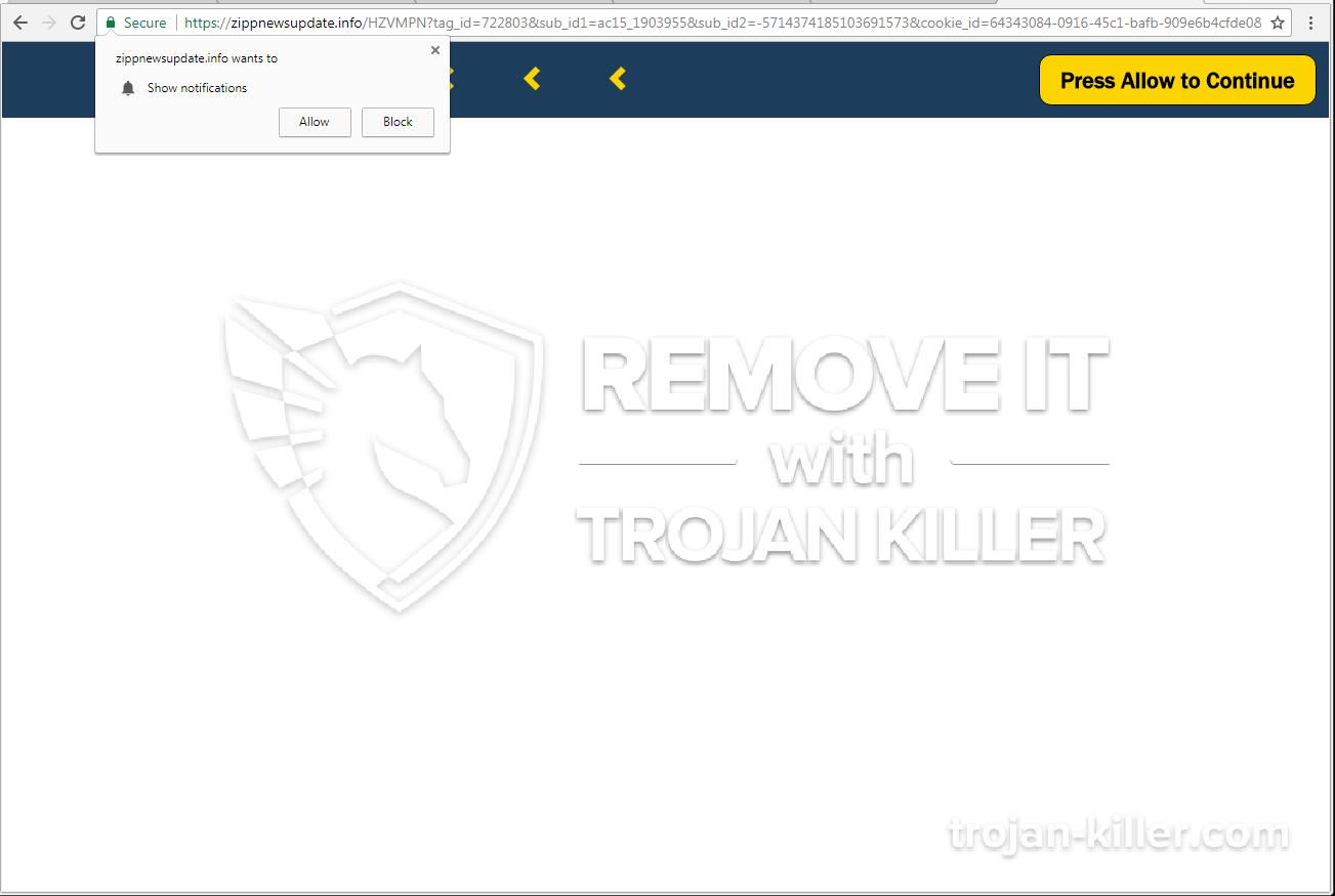 remove Zippnewsupdate.info virus