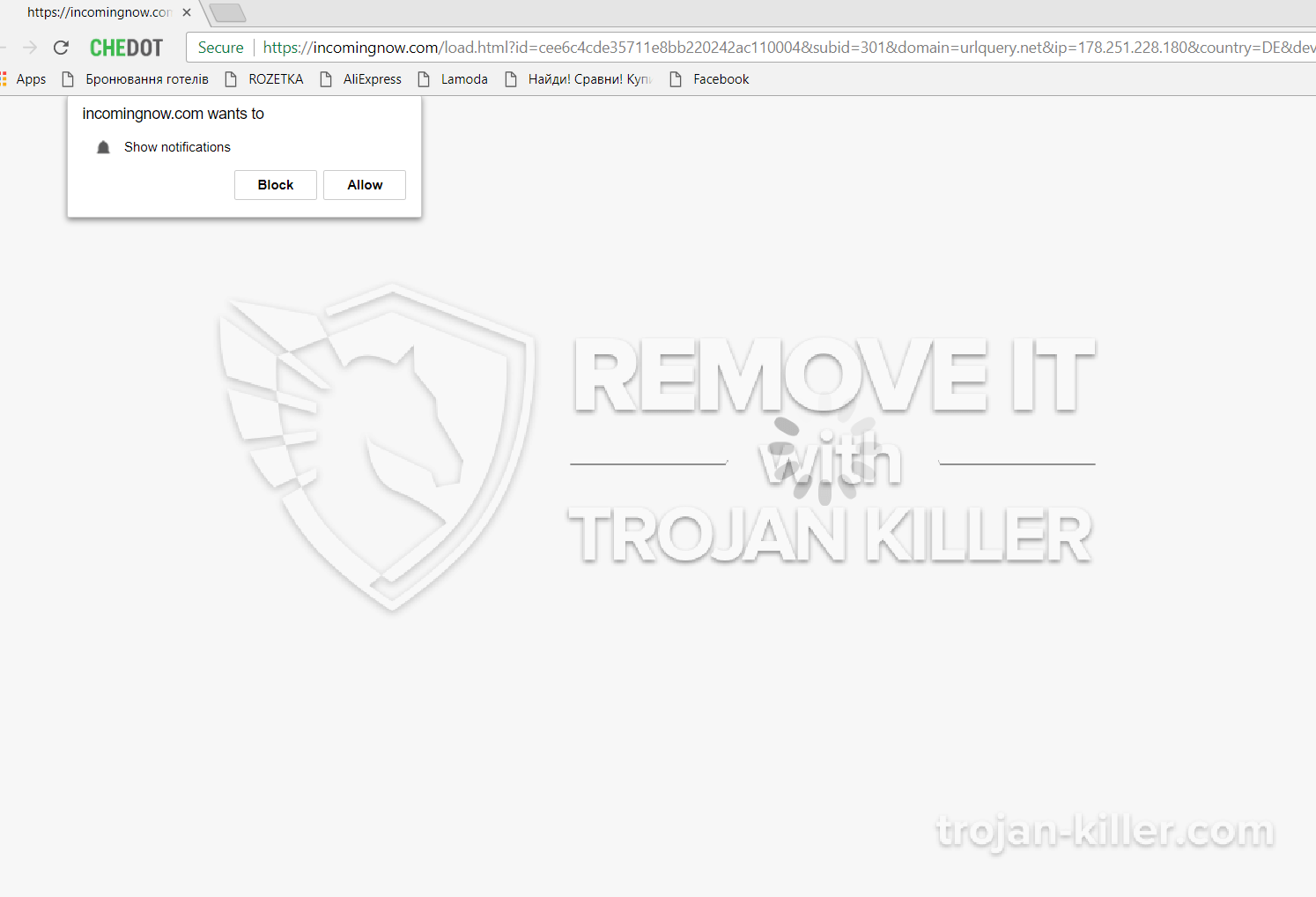 remove Incomingnow.com virus