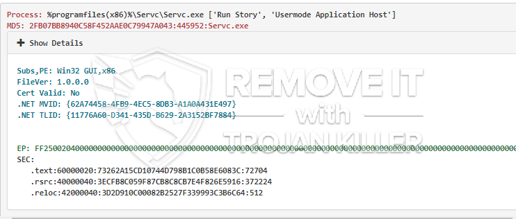 remove Servc.exe virus