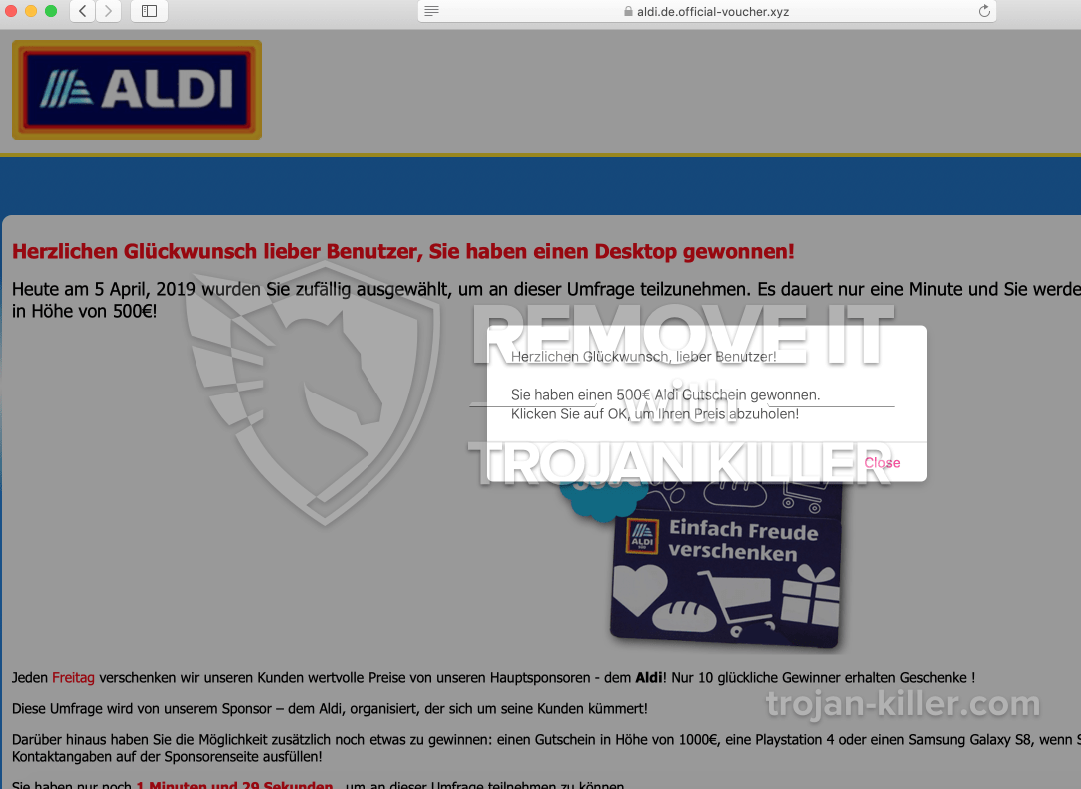 remove Official-voucher.xyz virus