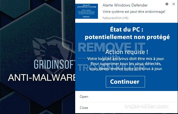 remove État du PC: potentiallement non protégé virus