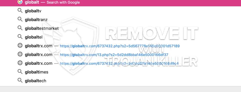 remove Globaltrx.com virus