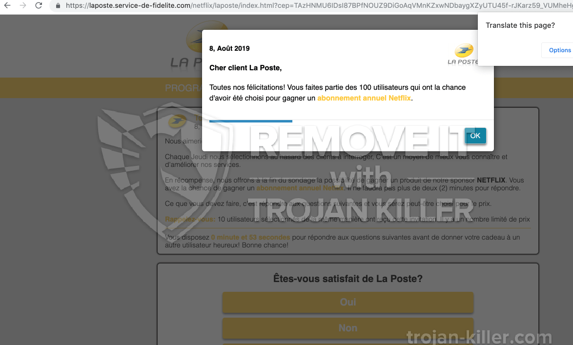 remove Service-de-fidelite.com virus