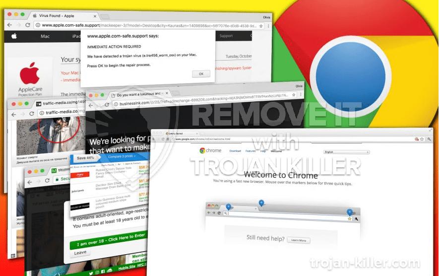 remove Oneclicksvisit.com virus