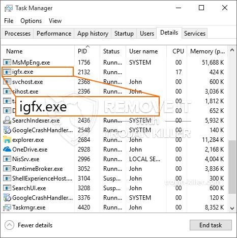 o que é Igfx.exe?