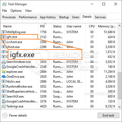 What is Igfx.exe?