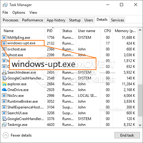 What is Windows-upt.exe?