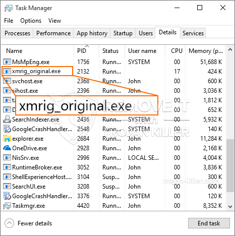 What is Xmrig_original.exe?