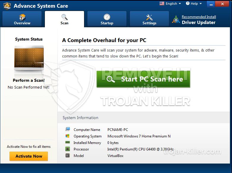 remove Advance System Care