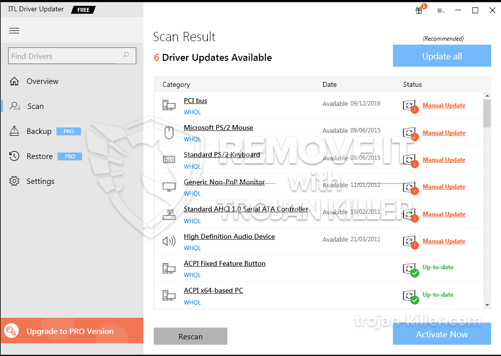 remove ITL Driver Updater