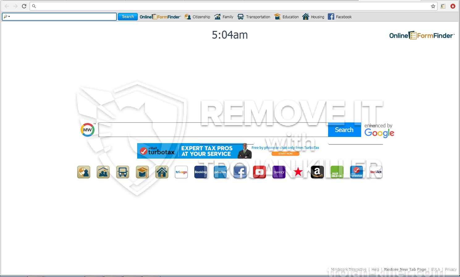 Onlineformfinder.com virus