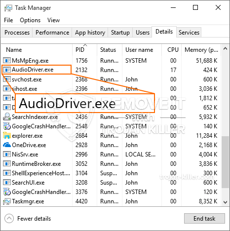 What is AudioDriver.exe?