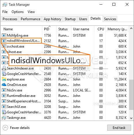 What is NdisdlWindowsUILogon.exe?