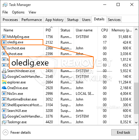 What is Oledlg.exe?