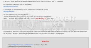 .Tabufa Ransomware Removal
