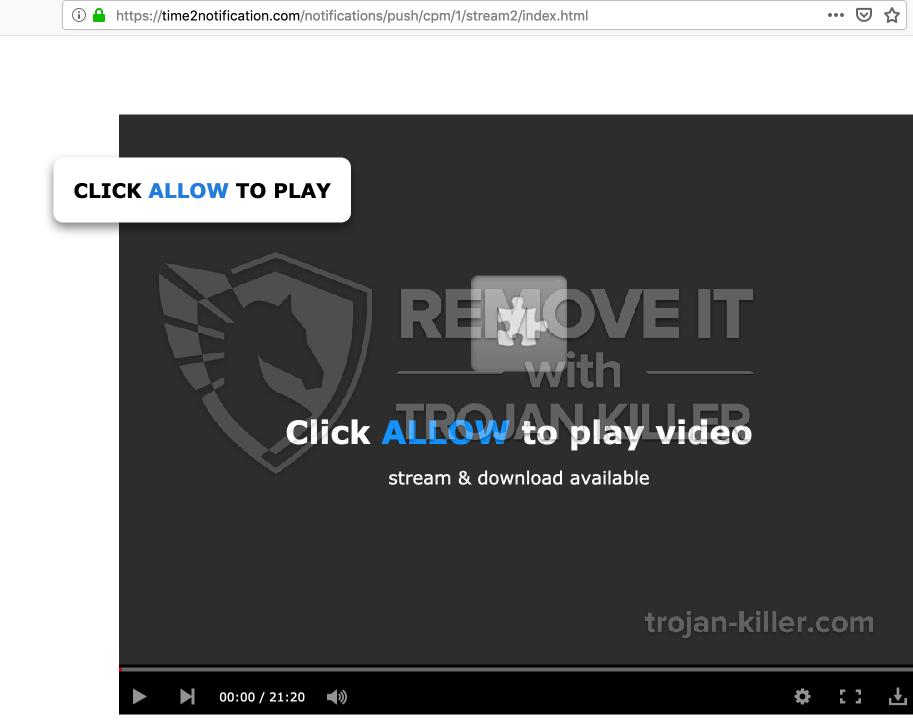 Time2notification.com virus