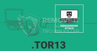 Remove .TOR13 Virus Ransomware (+File Recovery)
