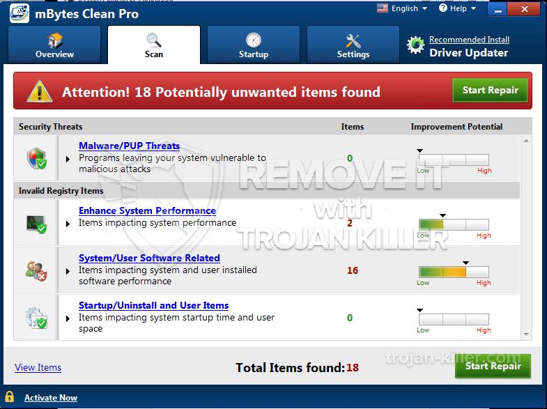 eliminar MBytes Clean Pro