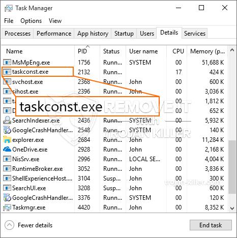 What is Taskconst.exe?