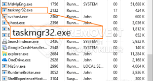 Fjern Taskmgr32.exe Miner Trojan